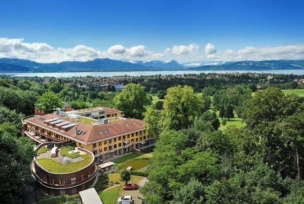 Hotelfotografie Luftbild Bodensee Hotelaufnahme